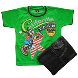 Green Kidswear for Boy.(4 year - 6 year)