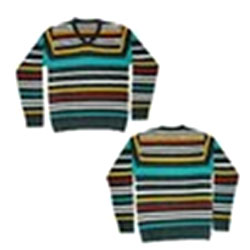 Multicolored Striped Sweater(Full Size)