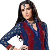 Comfortable Designer Blue Viscose Salwar from Praful