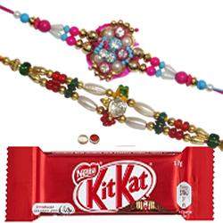 Amazing 2 Bhaiya Rakhi N Tasty Nestle KitKat.