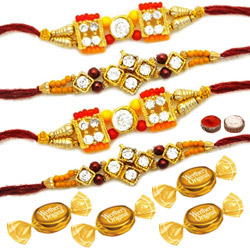 Set of 4 Rakhi