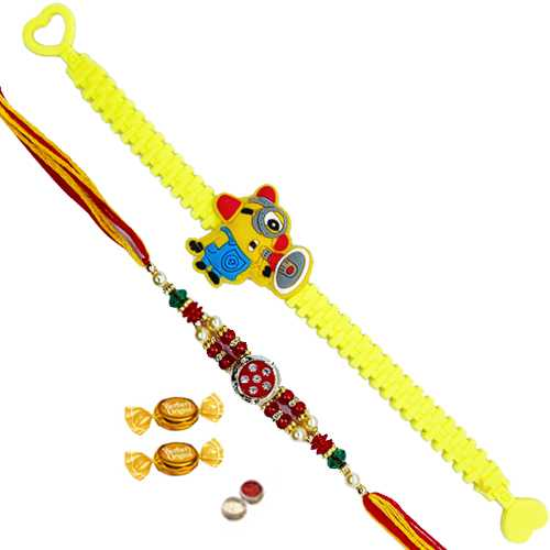 Splendid Rakhi with Angry Bird Kid Rakhi