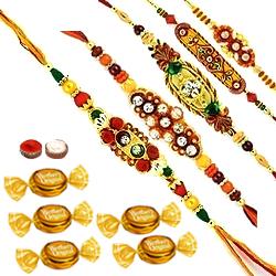 Set of 5 Designer Rakhi