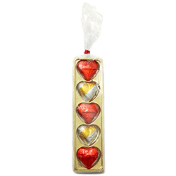 Golden Heart Shaped Pack of Assorted Homemade Chocolates