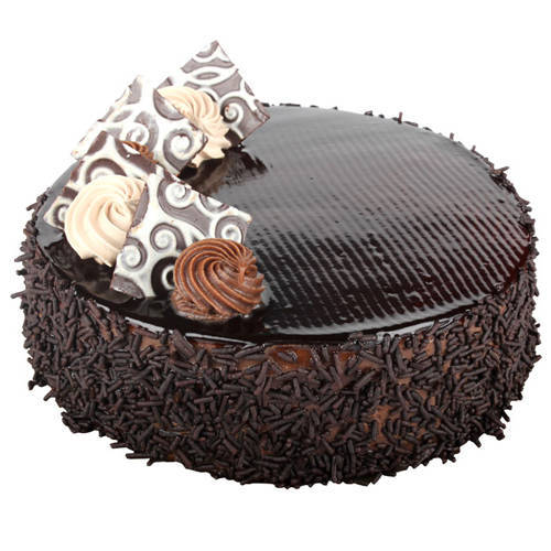 Beautifully Adorned Chocolate Cake