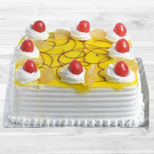 Deliver Eggless Pineapple Cake Online