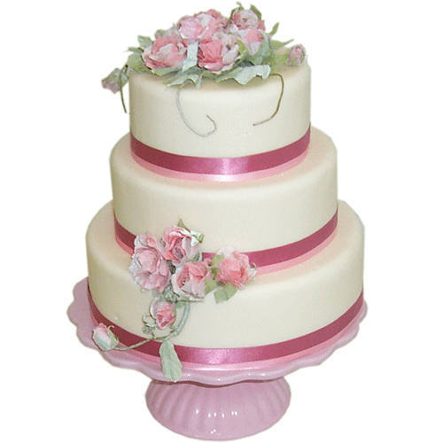Designer Three-Tier Wedding Cake