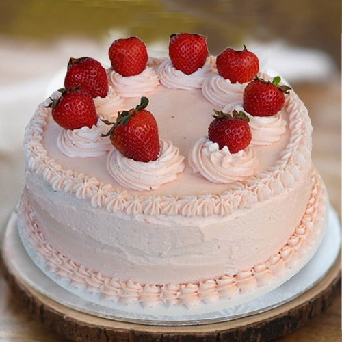 Confectionery Rich 1 Lb Strawberry Cake from 3/4 Star Bakery