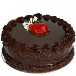 Buy Combo of Heart Shape Chocolate Cake with Single Rose Online