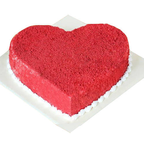 Buy Online Heart Shape Red Velvet Cake
