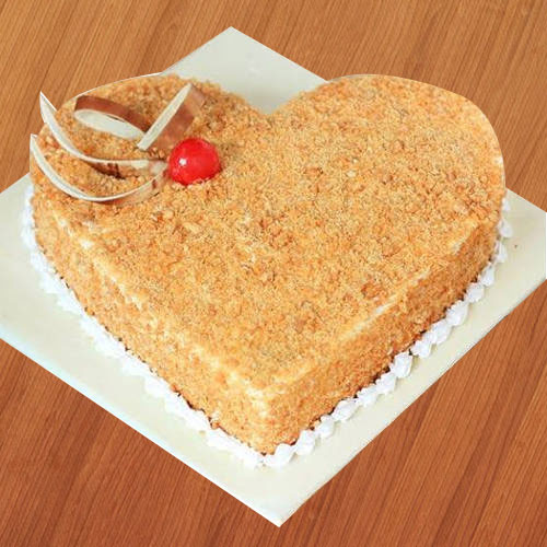 Book Online Butter Scotch Cake in Heart Shape