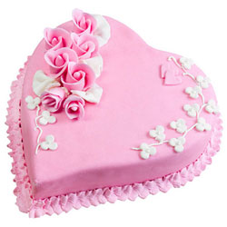 Send Online Heart-Shape Strawberry Cake