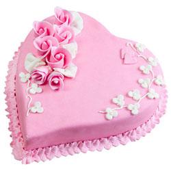 Send Online Heart-Shape Strawberry Cake