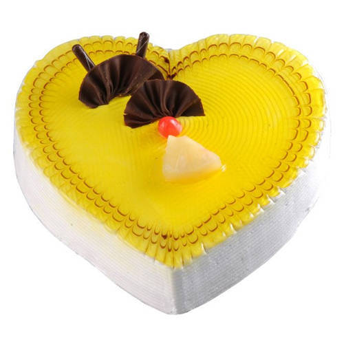 Online Pineapple Cake in Heart-Shape