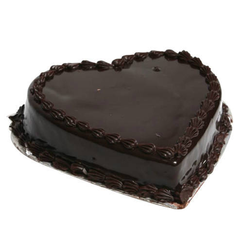 Gift Online Heart Shape Chocolate Truffle Cake