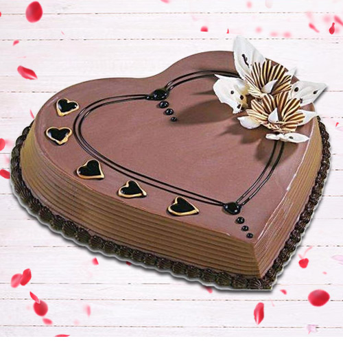 Online Order Heart Shape Coffee Cake