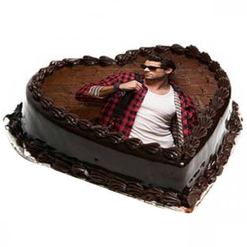 Deliver Heart-Shape Photo Cake Online