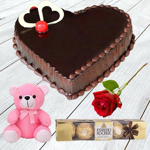 Online Order Heart Shape Coffee Cake