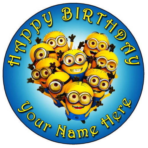 Order Kids Minions Photo Cake Online