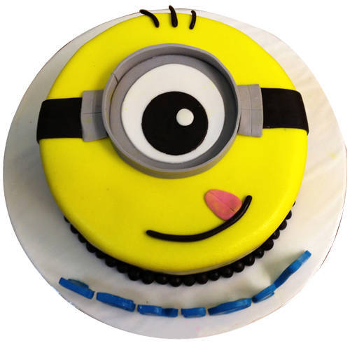 Send Online 1 eyed Minions Fondent Cake for Kids