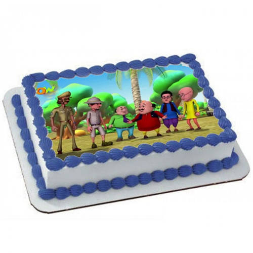 Deliver Online Kids Motu Patlu Photo Cake