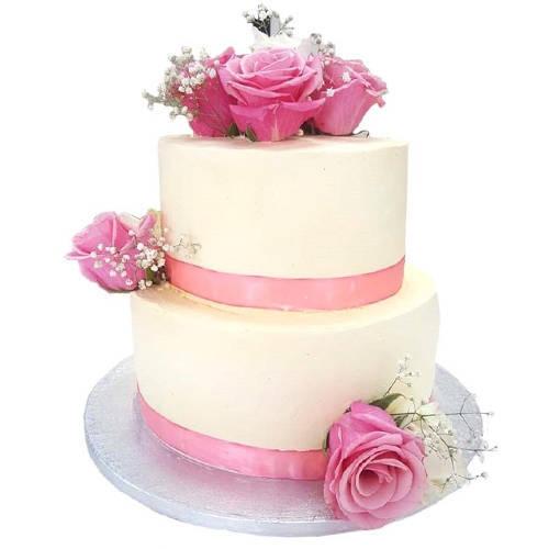 Gift 2 Tier Wedding Cake Online