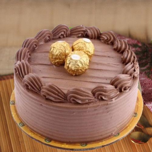 Send Vanilla Cake N Red Rose Online