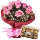 Flourish-of-Fondness Flower and Confection Duo