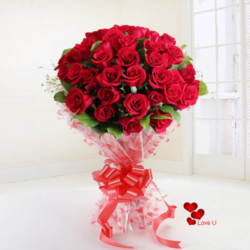 Online Order Red Roses Bouquet