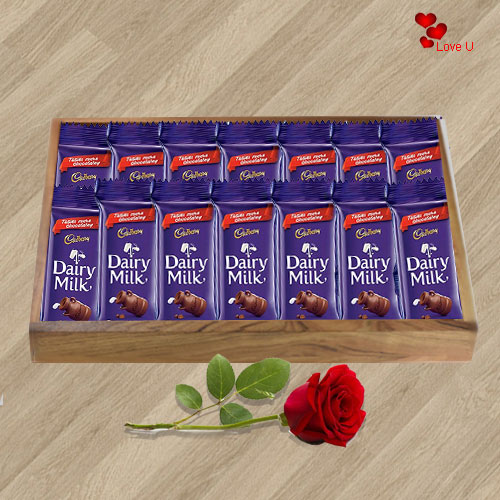 Book Online Red Rose N Dairy Milk Chocolates Online