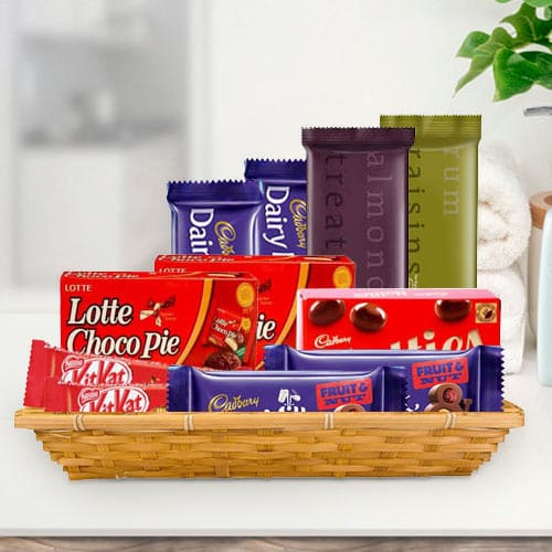Online Gift Basket of Tasty Chocolate