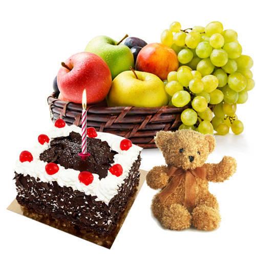 Send Red Roses N Chocolate Cake Online