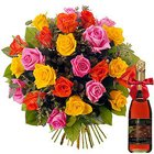 Fascinating Bouquet with Fruit Juice Gift Set