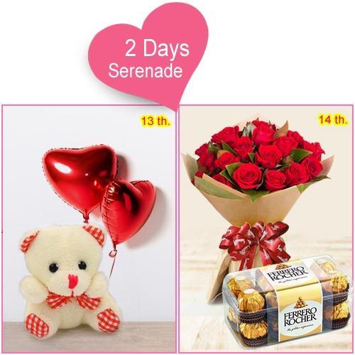 Mesmerizing V-Day Hamper of 4-Day Serenade