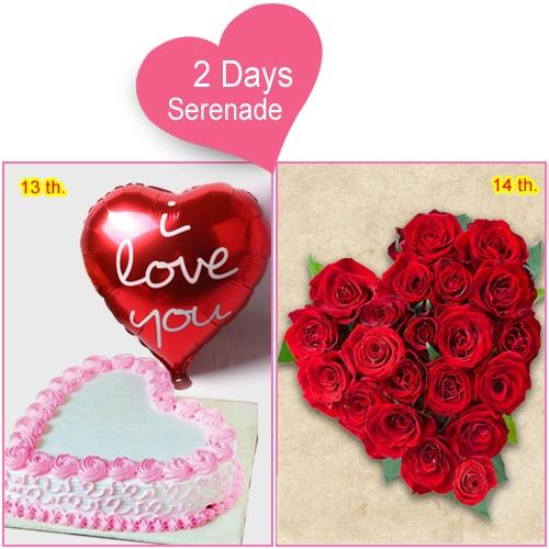 Online Combo of 2-Day Serenade Gift for V-day