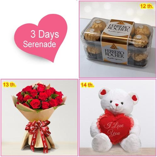 Exotic 3 Day Serenade Gifts for V-Day