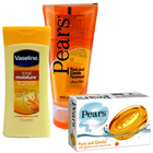 Attention-Getting Vaseline and Pears Products for Skin Care