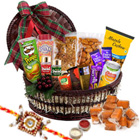 Euphoric Times Gourmet Assortment with One Rakhi and Roli Tilak Chawal
