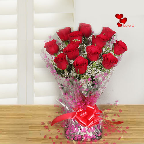 Send Red Roses Bunch for Valentines   Day