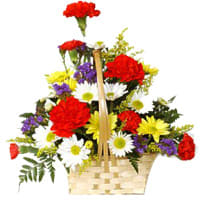 Send Online Vanilla Cake with Red Rose Bunch