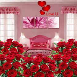 Send V-day Gift of Room Full of Roses Arrangement