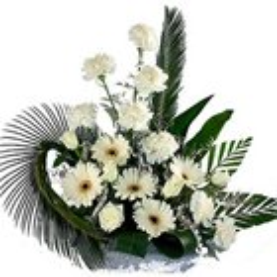 Artful Display of Carnations N Gerberas