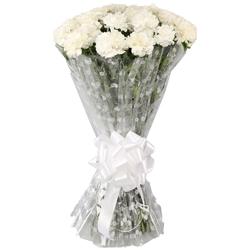 Captivating Eternal Love White Carnations Bundle