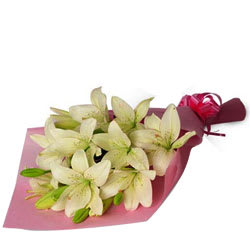 Sensational Pure Essence White Lilies Bunch