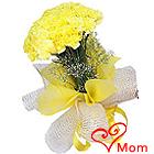 Joyful Display of Yellow Coloured Carnations