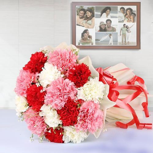 Expressive Mixed Carnations Arrangement <br><br>