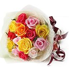 Dramatic Thinking of You Mixed Roses Premium Bouquet