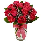 Sweet Surprises Red Roses in a Glass Vase