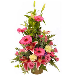 Delightful Happiness Blooms Premium Arrangement of Mixed Flowers