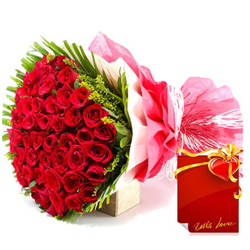 Lovely Bouquet of 50 Dutch Rose